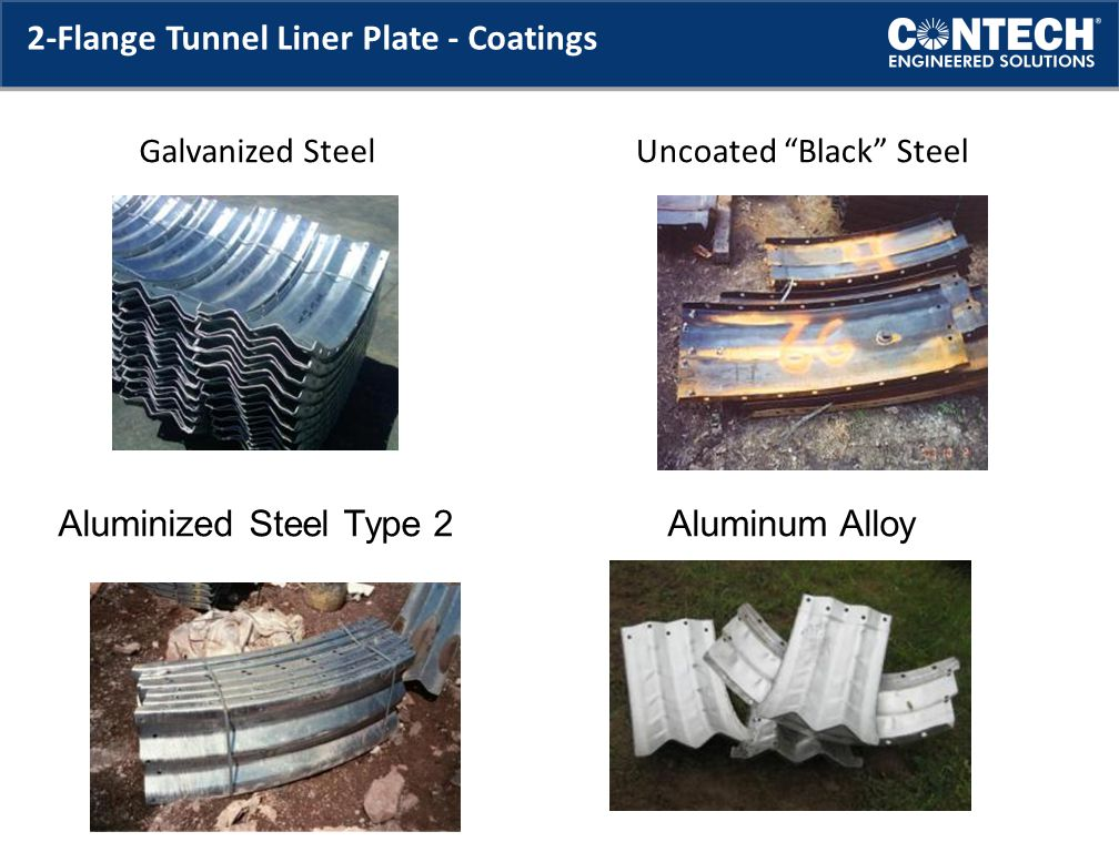 2-Flange Tunnel Liner Plate - Coatings