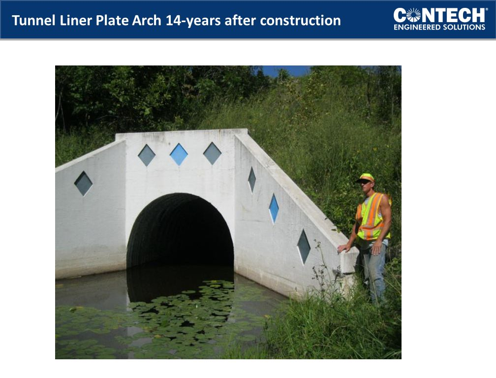 Tunnel Liner Plate Arch 14-years after construction