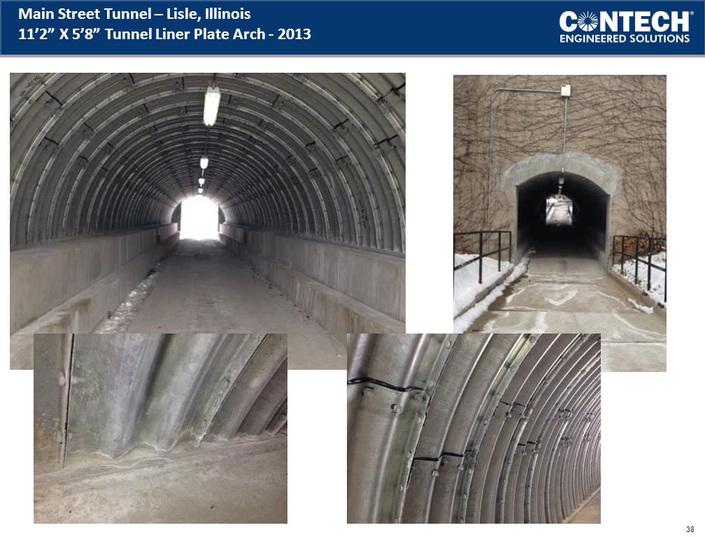 Main Street Tunnel – Lisle, Illinois 11'2 X 5'8 Tunnel Liner Plate Arch - 2013