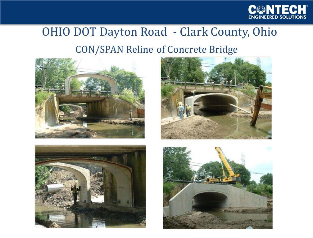 OHIO DOT Dayton Road - Clark County, Ohio CON/SPAN Reline of Concrete Bridge