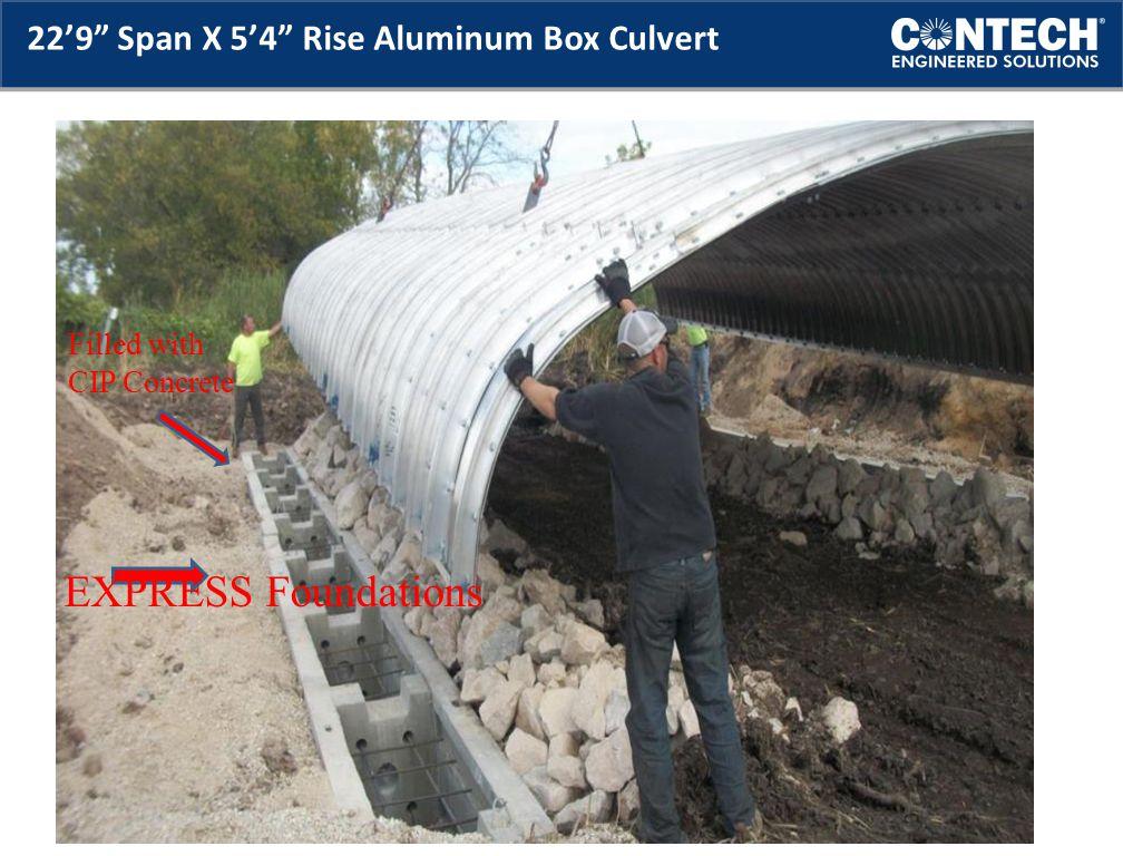 22'9 Span X 5'4 Rise Aluminum Box Culvert