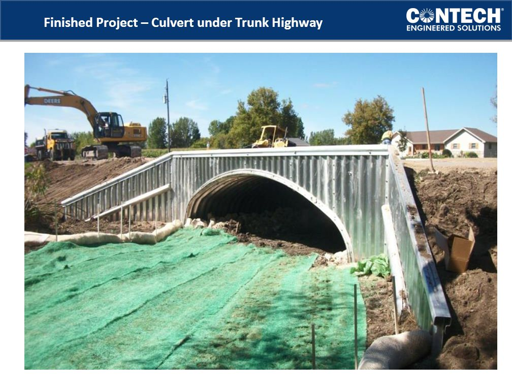 Finished Project – Culvert under Trunk Highway