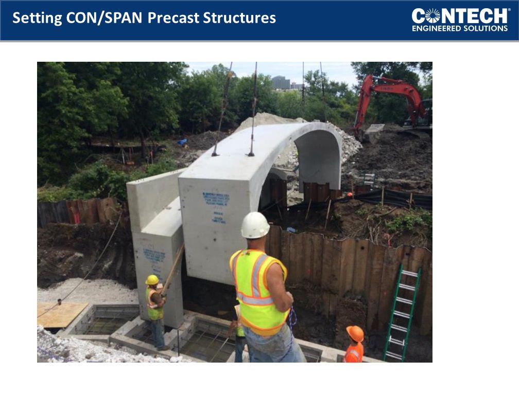 Setting CON/SPAN Precast Structures