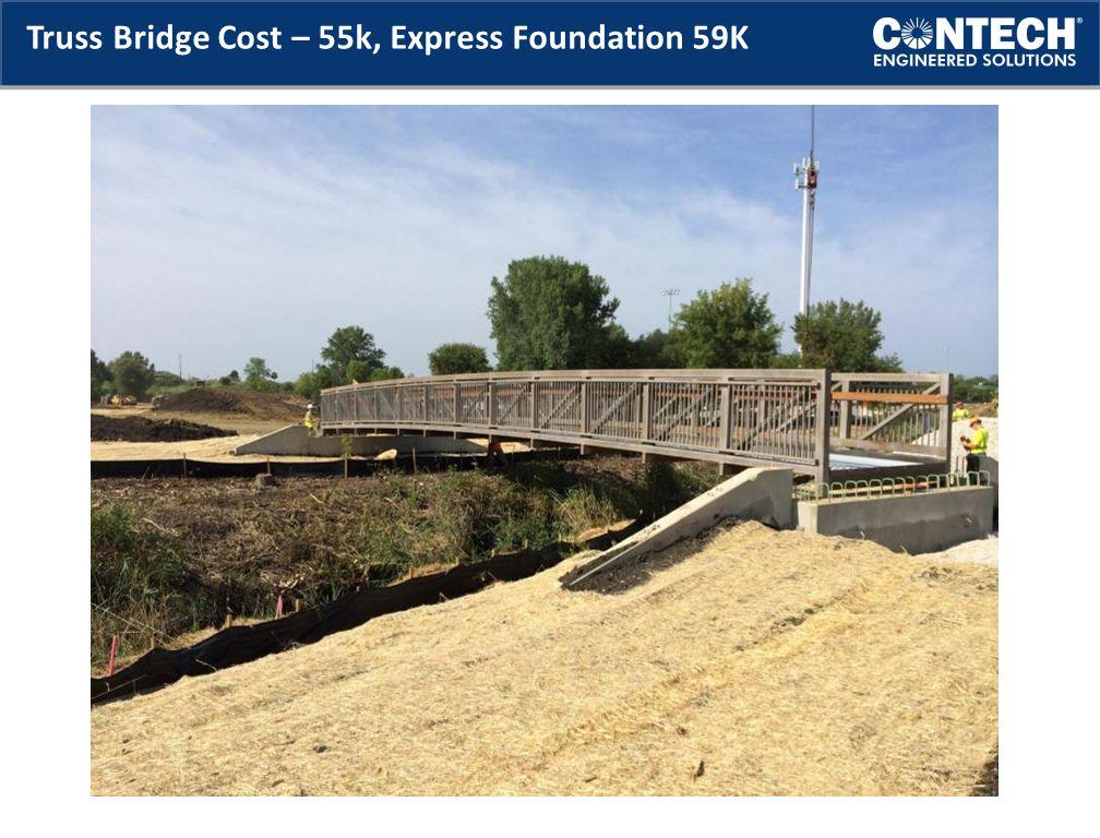 Truss Bridge Cost – 55k, Express Foundation 59K