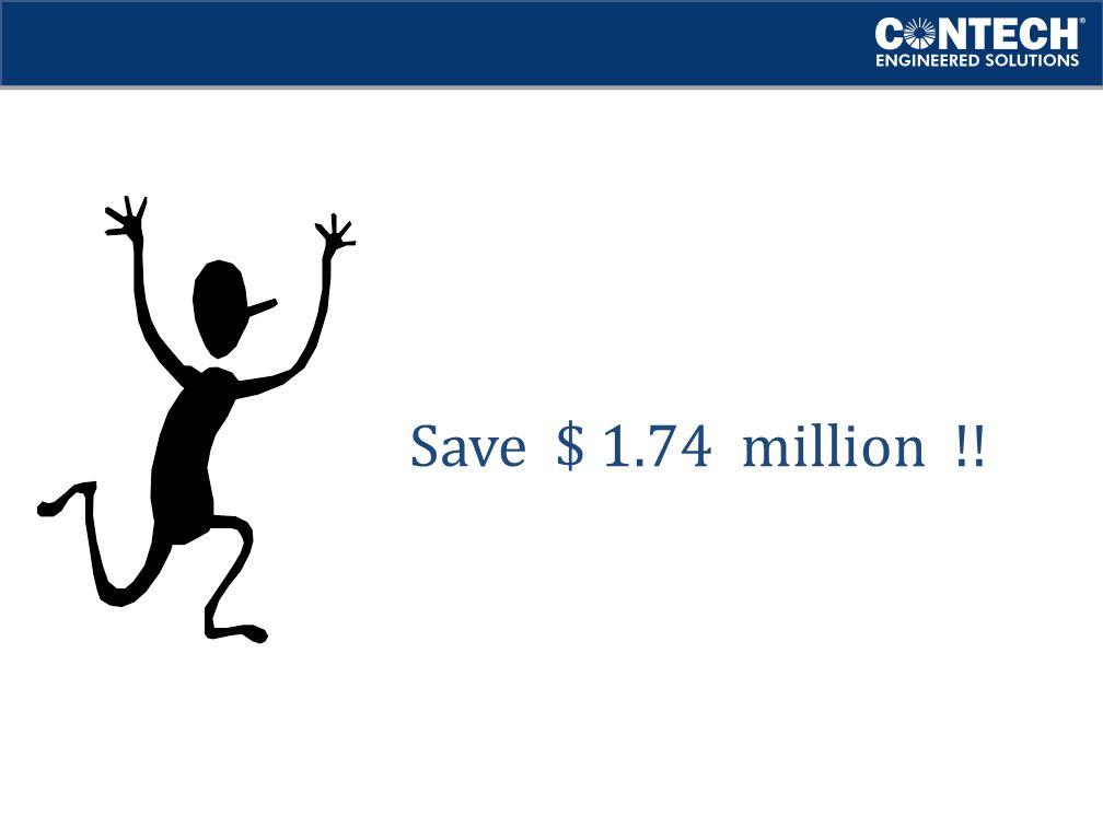 Save $ 1.74 million !!