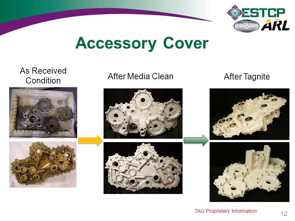 Accessory Cover As Received Condition After Media Clean After Tagnite