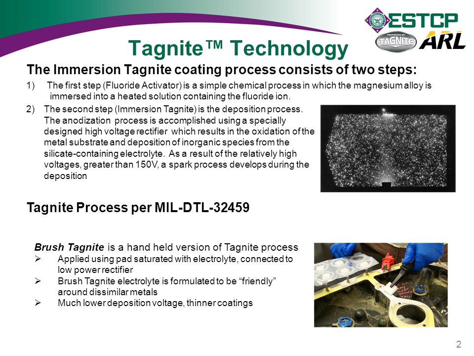 Tagnite™ Technology The Immersion Tagnite coating process consists of two steps: