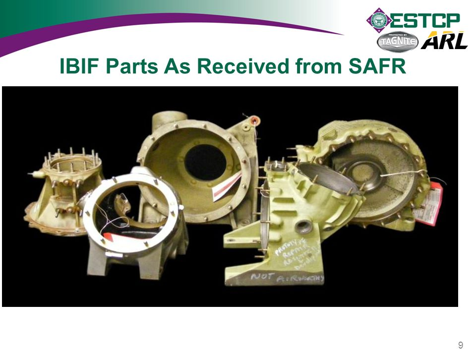 IBIF Parts As Received from SAFR