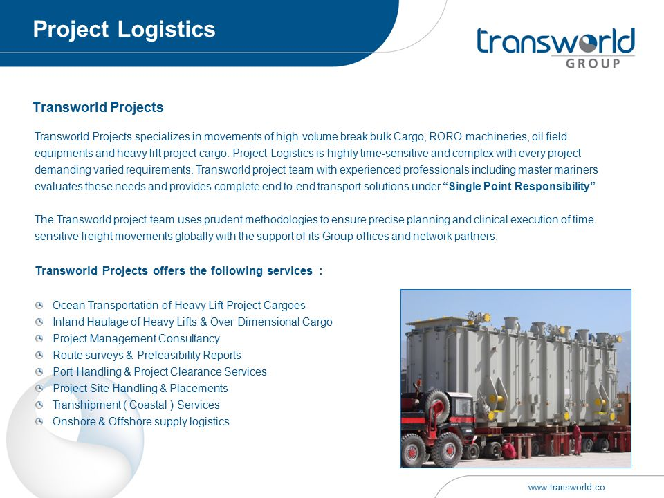 Project Logistics Transworld Projects
