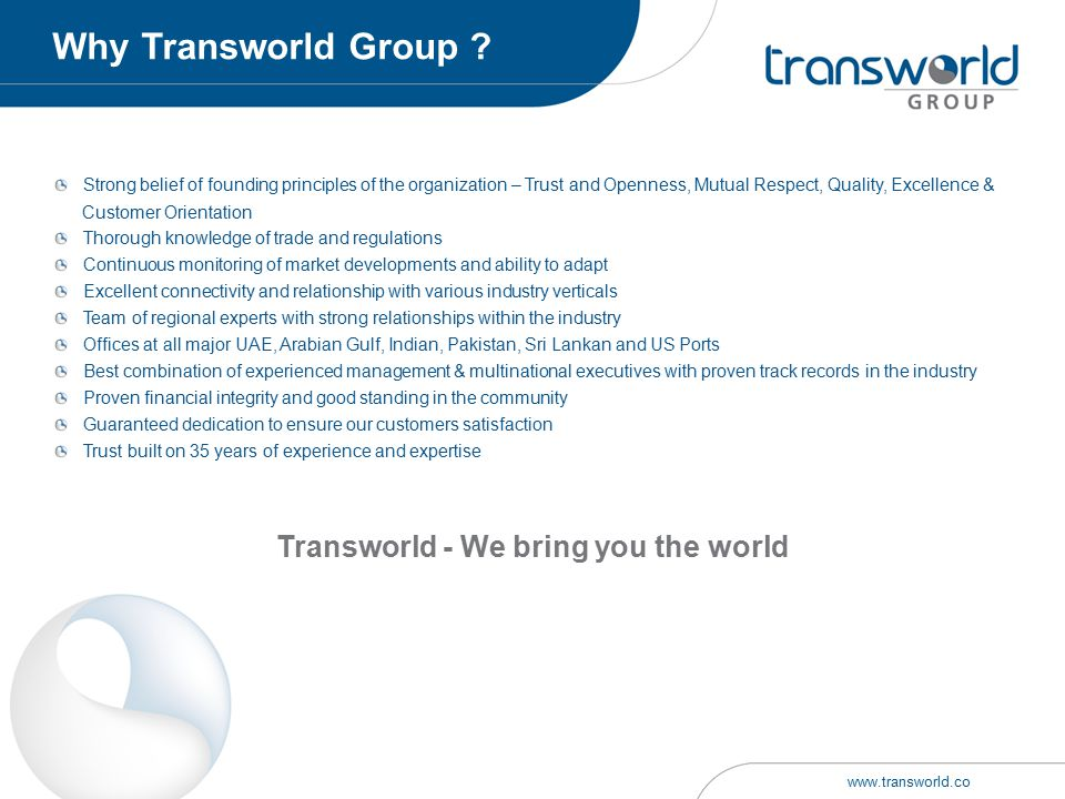 Transworld - We bring you the world