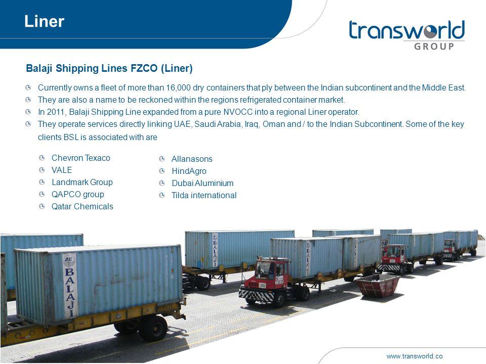 Balaji Shipping Lines FZCO (Liner)