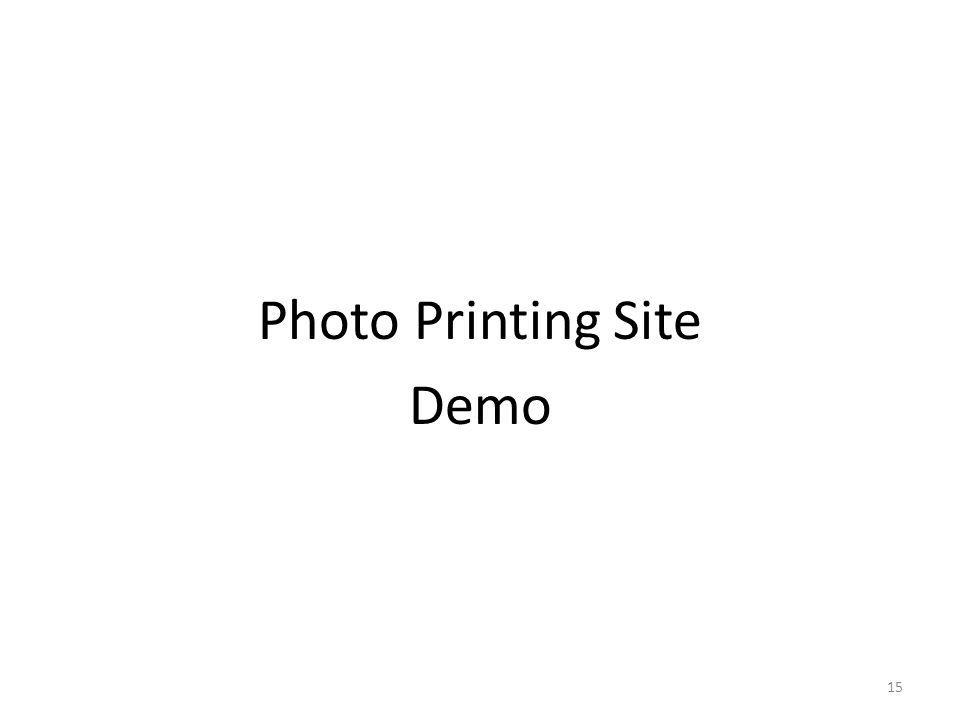 Photo Printing Site Demo