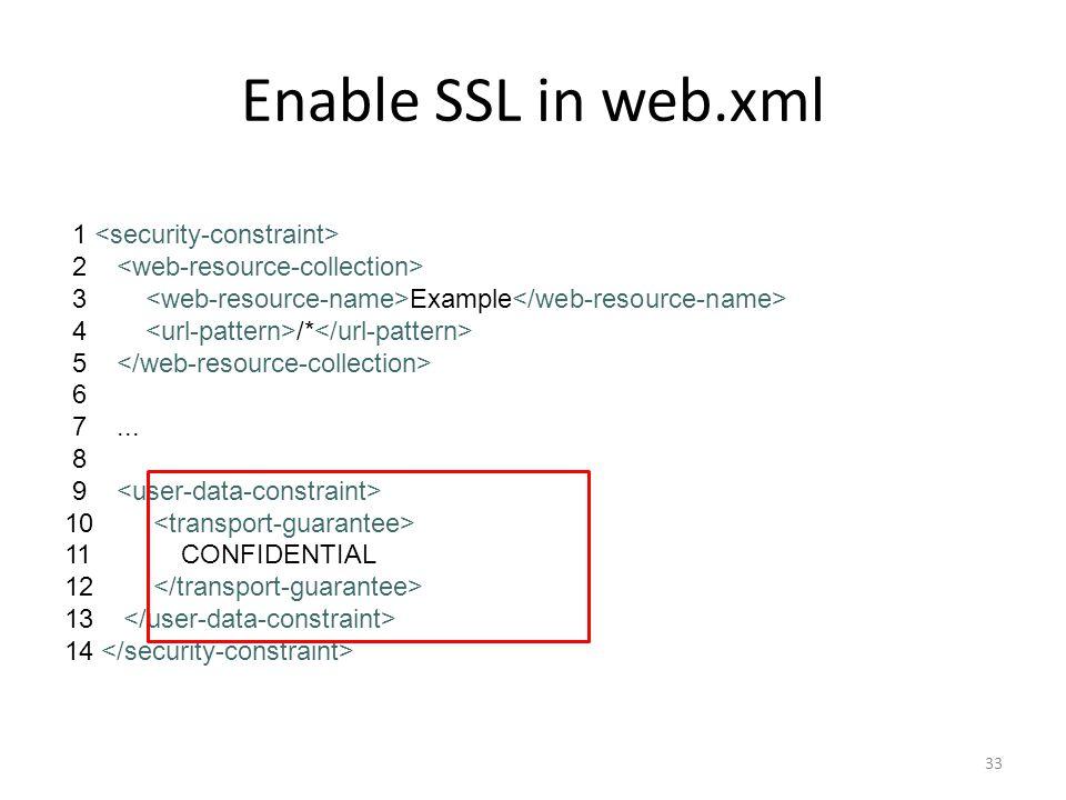 Enable SSL in web.xml