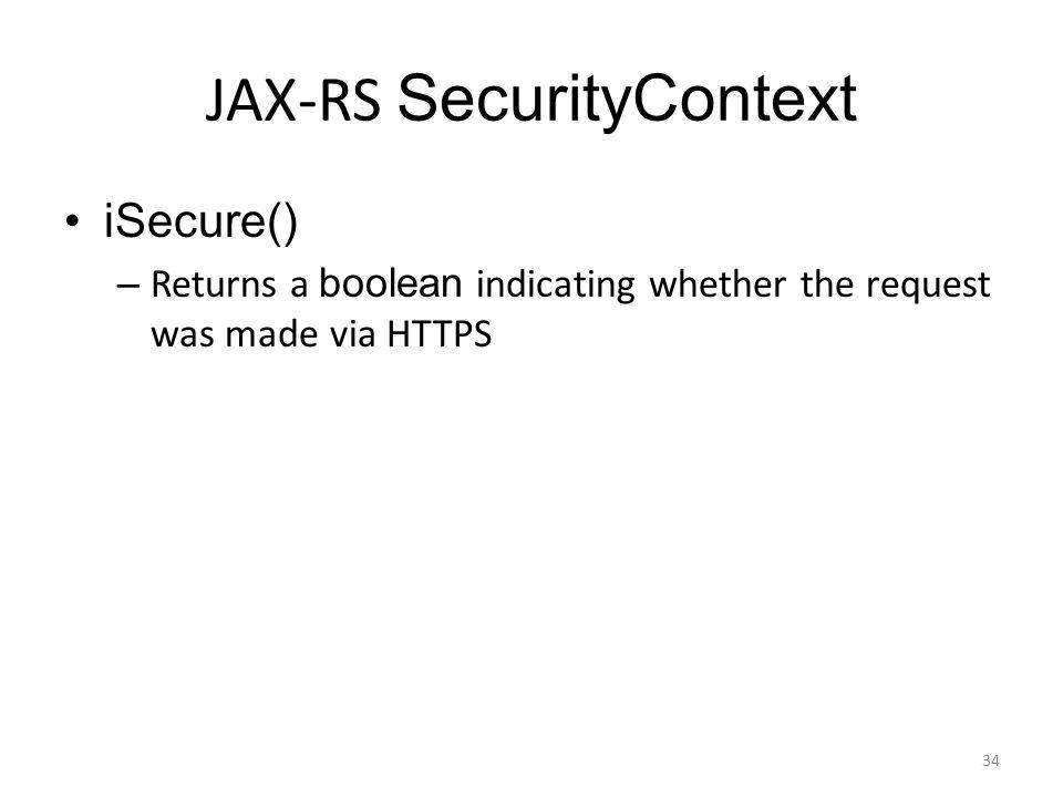 JAX-RS SecurityContext