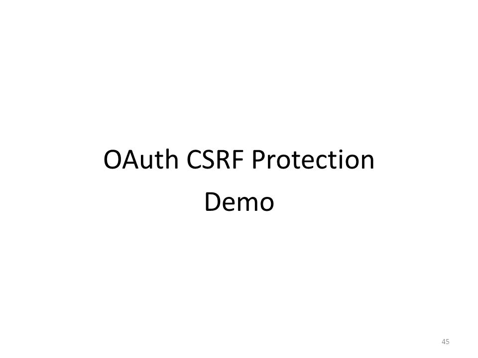 OAuth CSRF Protection Demo