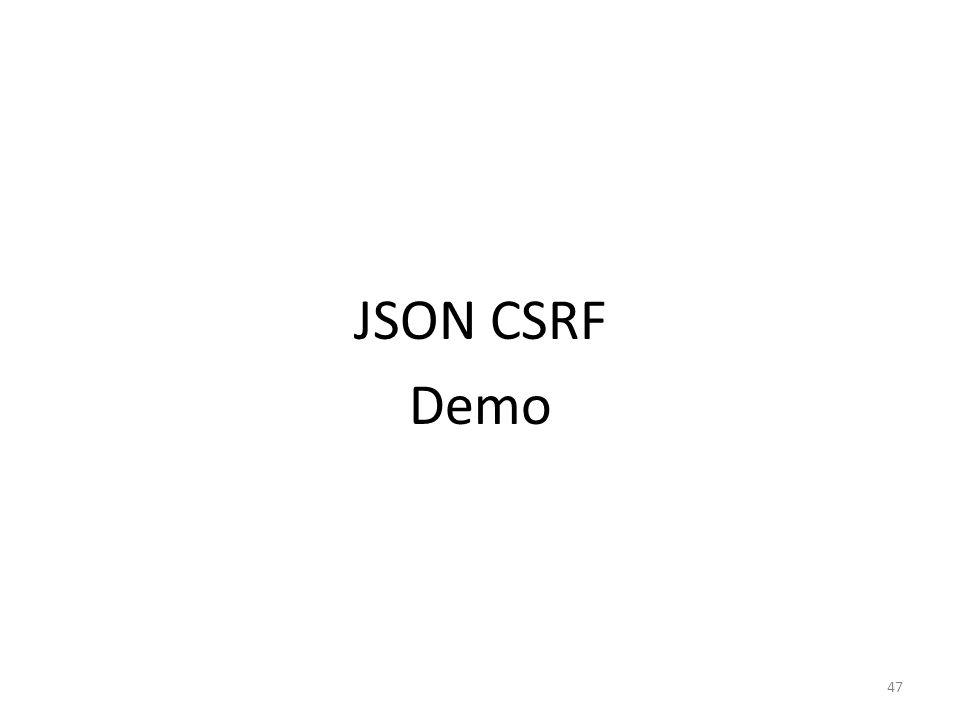JSON CSRF Demo