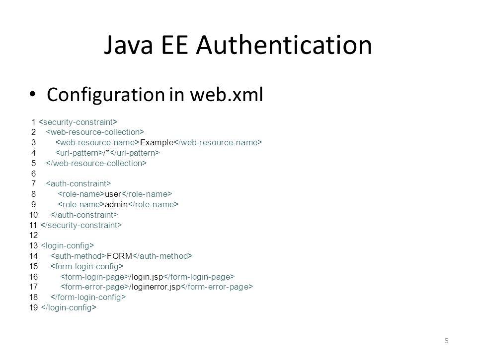 Java EE Authentication