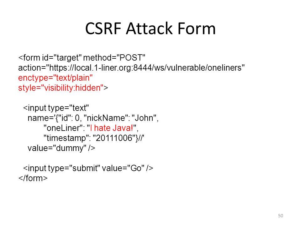 CSRF Attack Form