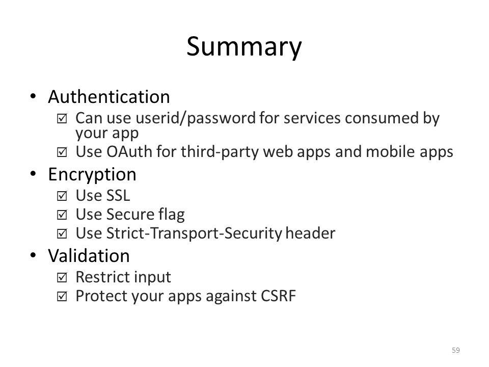 Summary Authentication Encryption Validation
