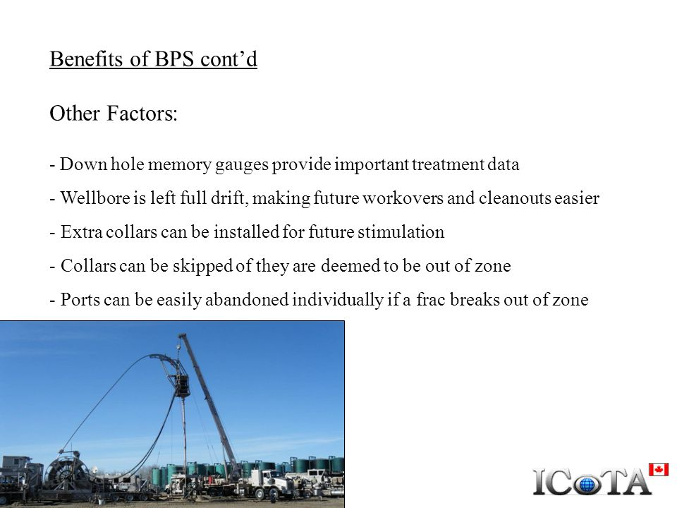 Benefits of BPS cont'd Other Factors: