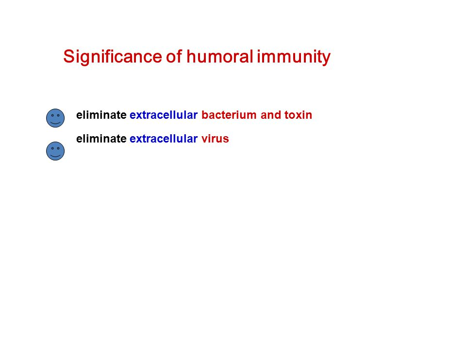 Significance of humoral immunity