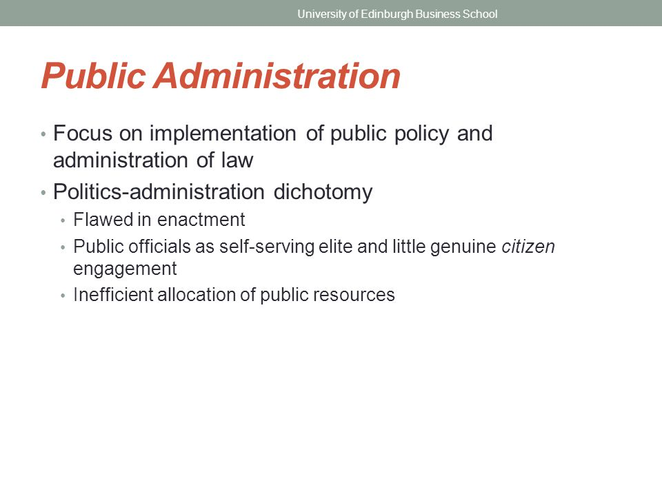 Politics administration dichotomy essays