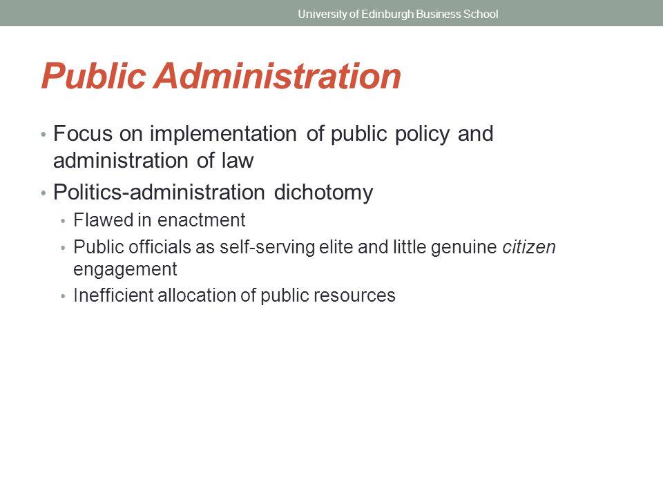 woodrow wilson public administration summary