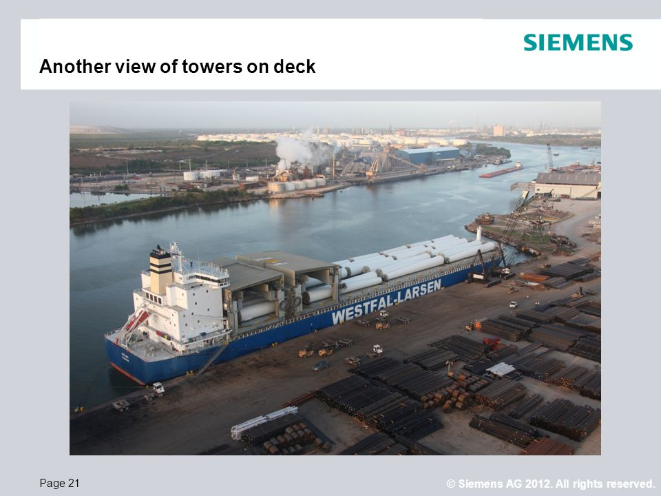 Another view of towers on deck