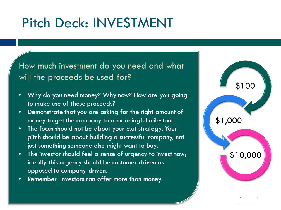 Pitch Deck: INVESTMENT