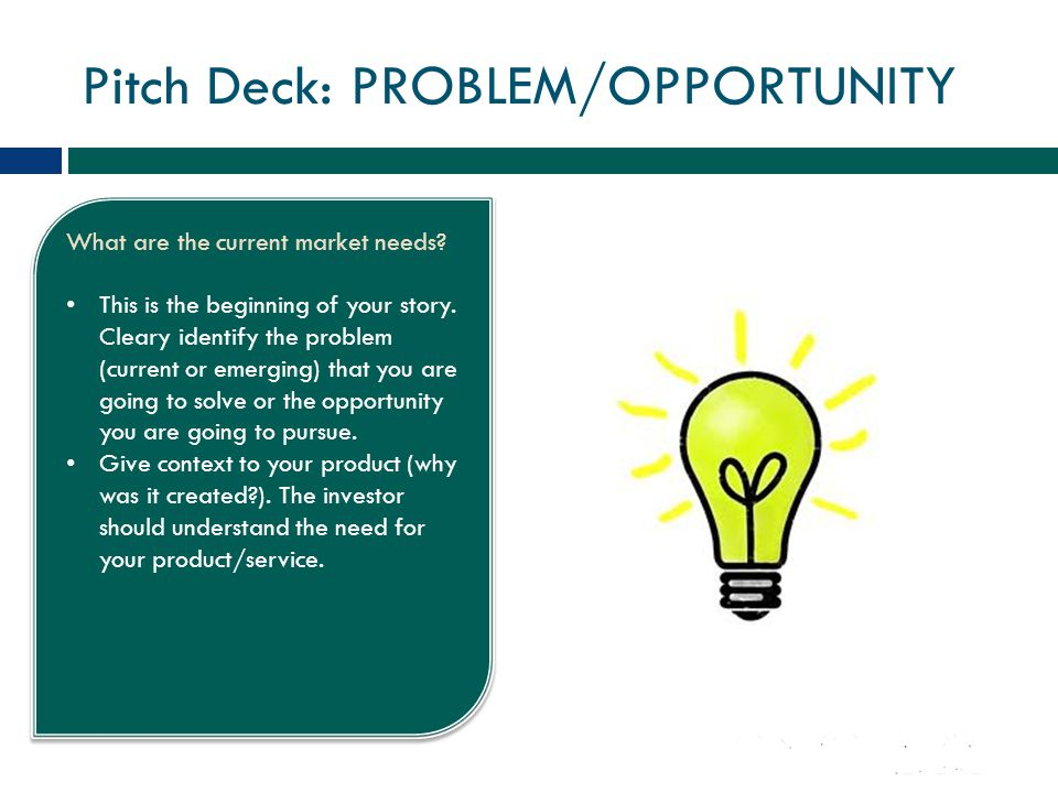 Pitch Deck: PROBLEM/OPPORTUNITY