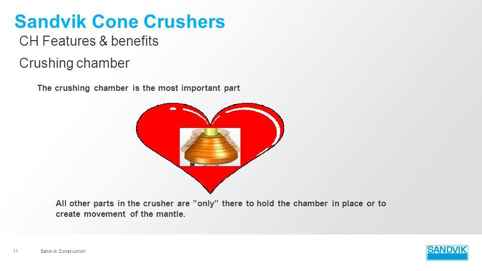 Sandvik Cone Crushers CH Features & benefits Crushing chamber