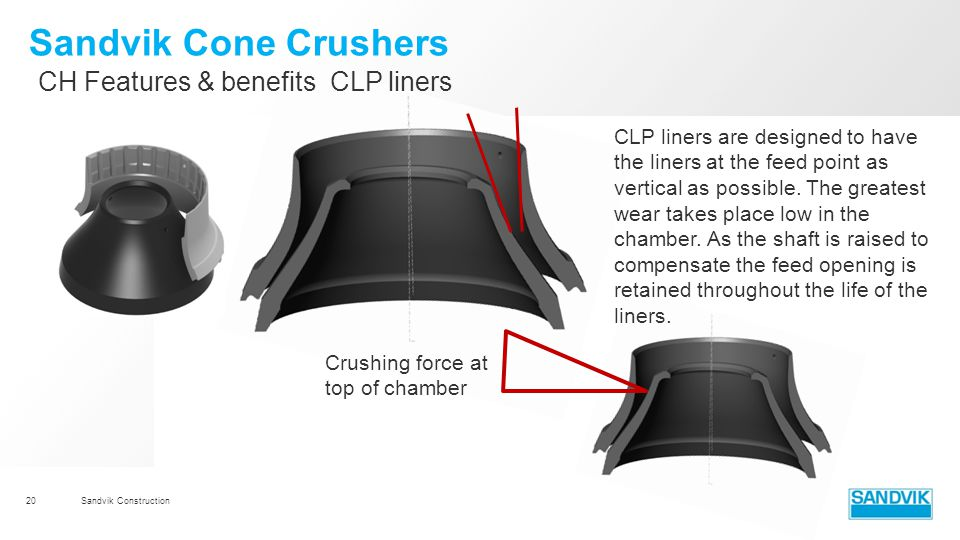 Sandvik Cone Crushers CH Features & benefits CLP liners
