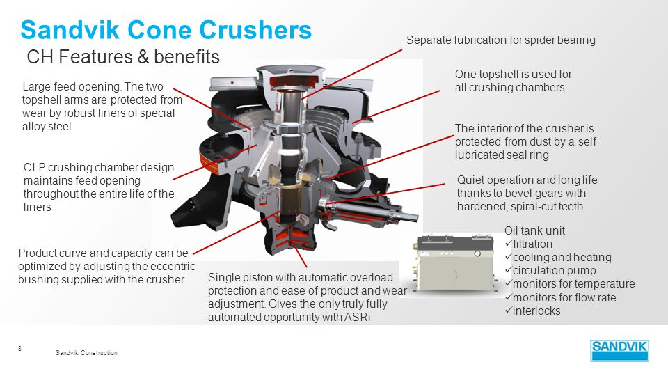 Sandvik Cone Crushers CH Features & benefits