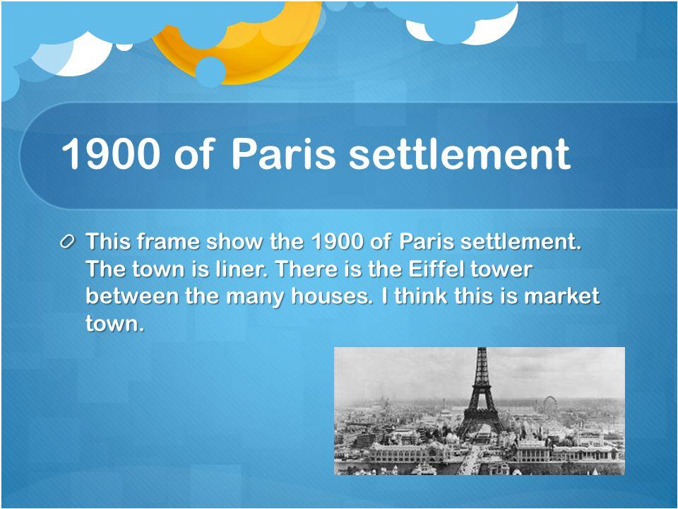 1900 of Paris settlement