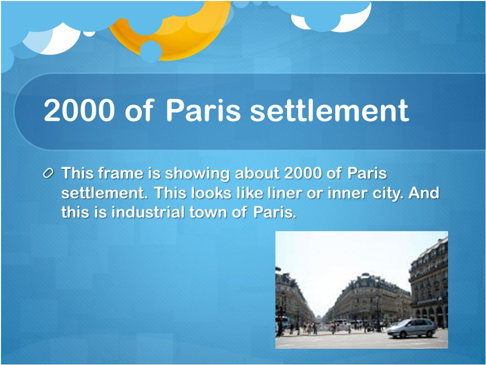 2000 of Paris settlement
