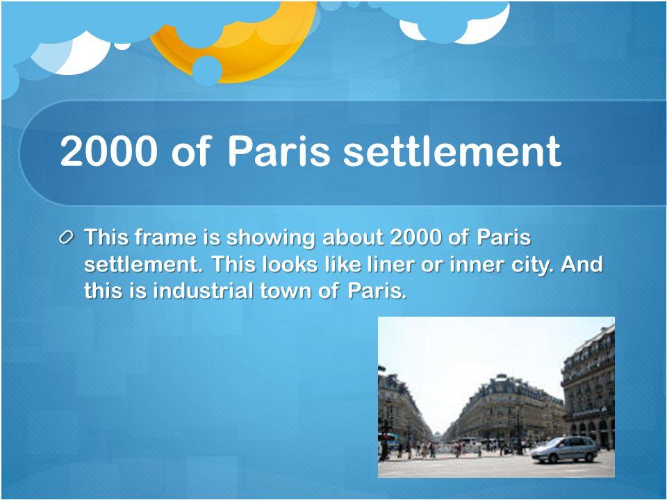 2000 of Paris settlement