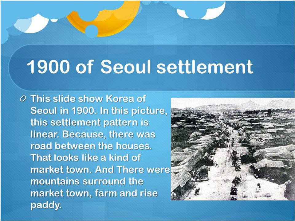 1900 of Seoul settlement