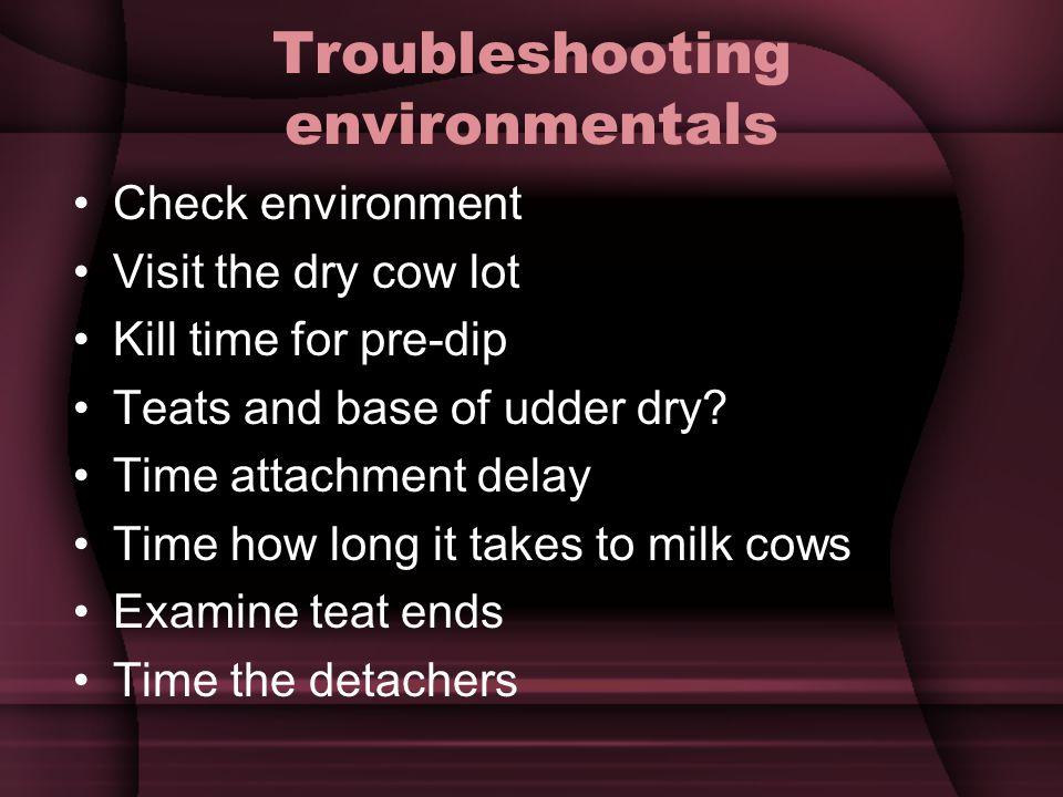 Troubleshooting environmentals