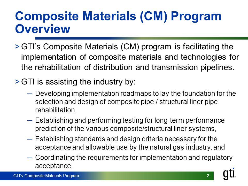 Composite Materials (CM) Program Overview
