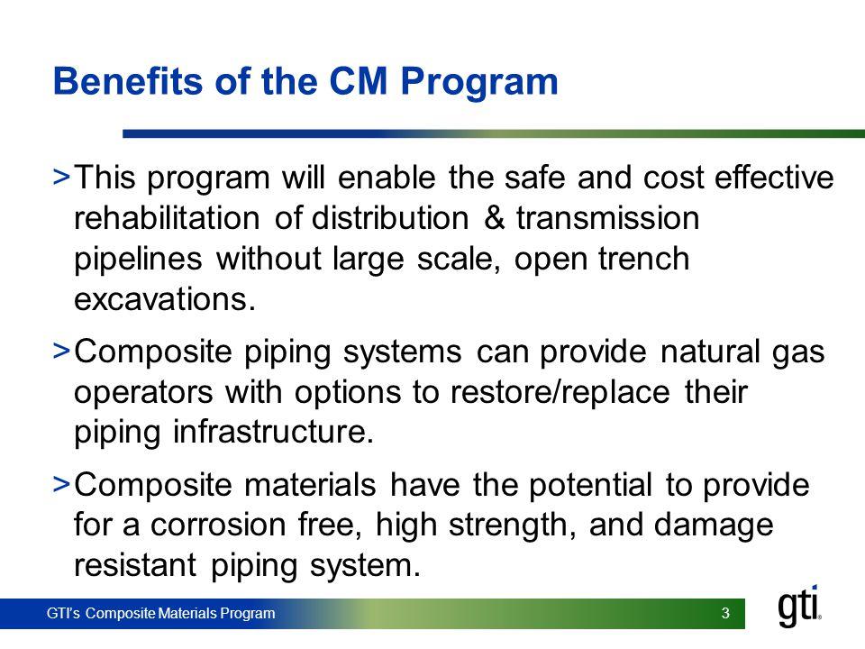 Benefits of the CM Program