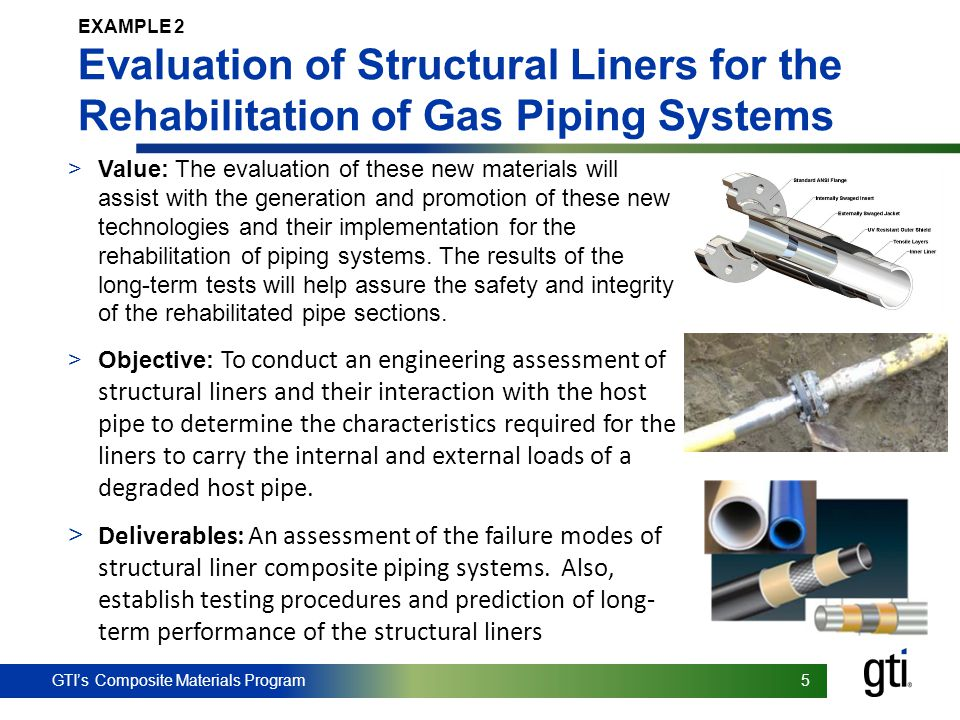 EXAMPLE 2 Evaluation of Structural Liners for the Rehabilitation of Gas Piping Systems.