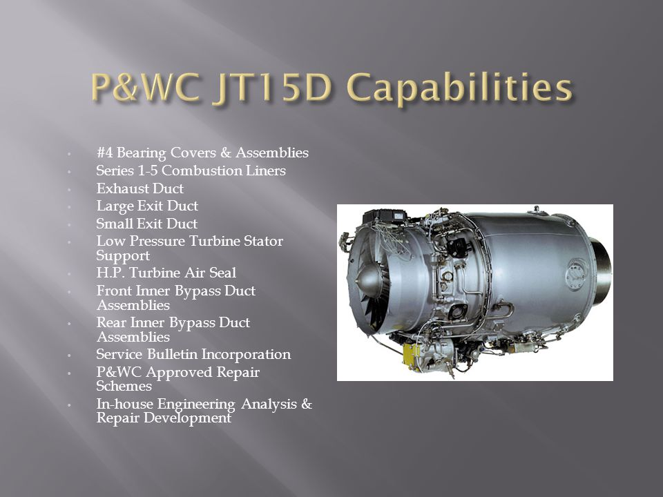 P&WC JT15D Capabilities #4 Bearing Covers & Assemblies