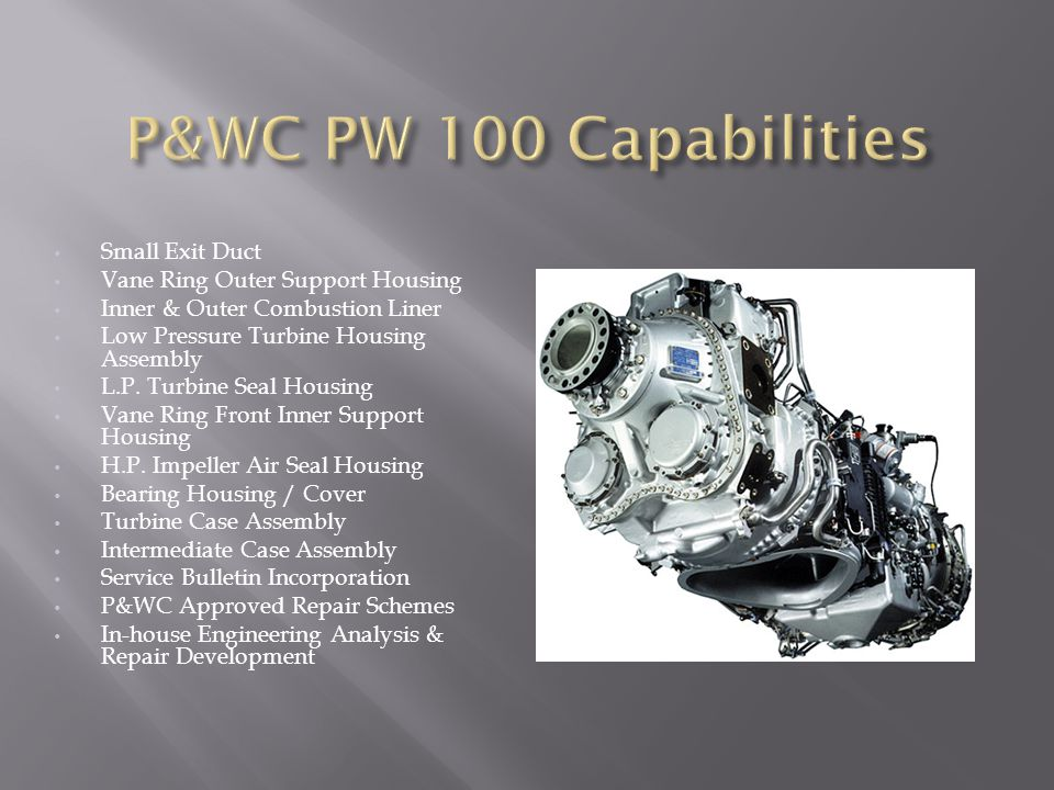 P&WC PW 100 Capabilities Small Exit Duct