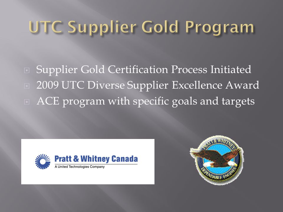 UTC Supplier Gold Program