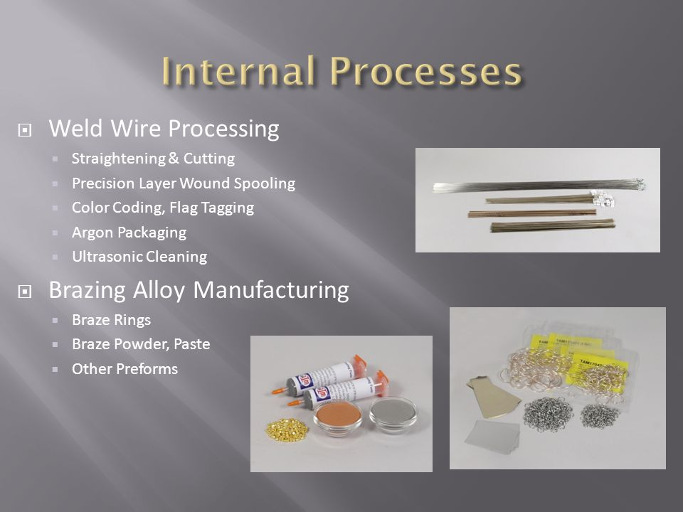 Internal Processes Weld Wire Processing Brazing Alloy Manufacturing