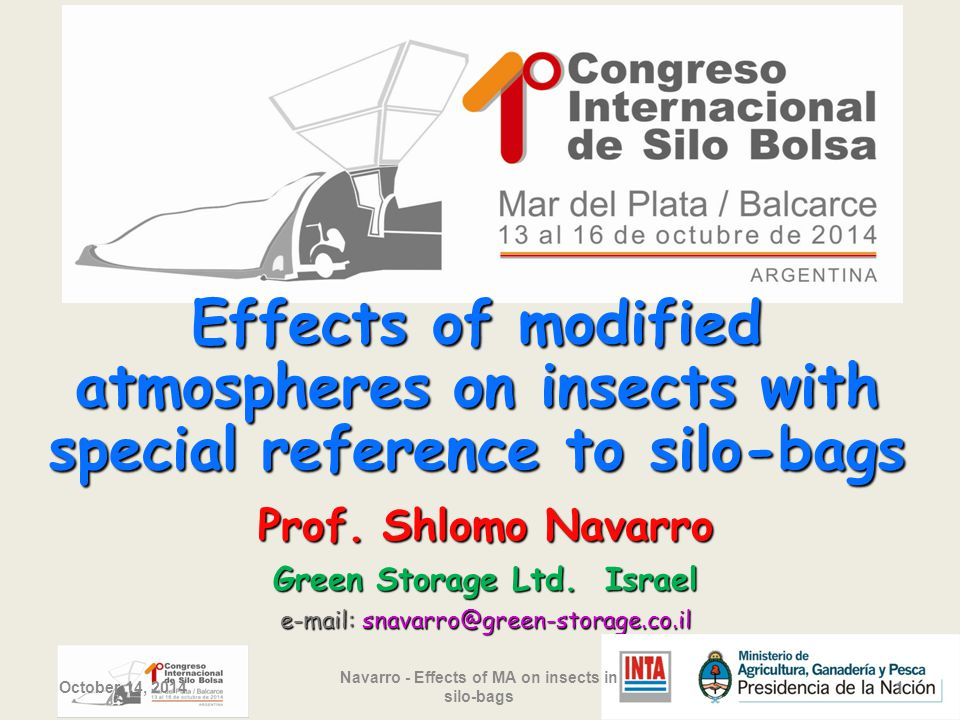 Effects of modified atmospheres on insects with special reference to silo-bags