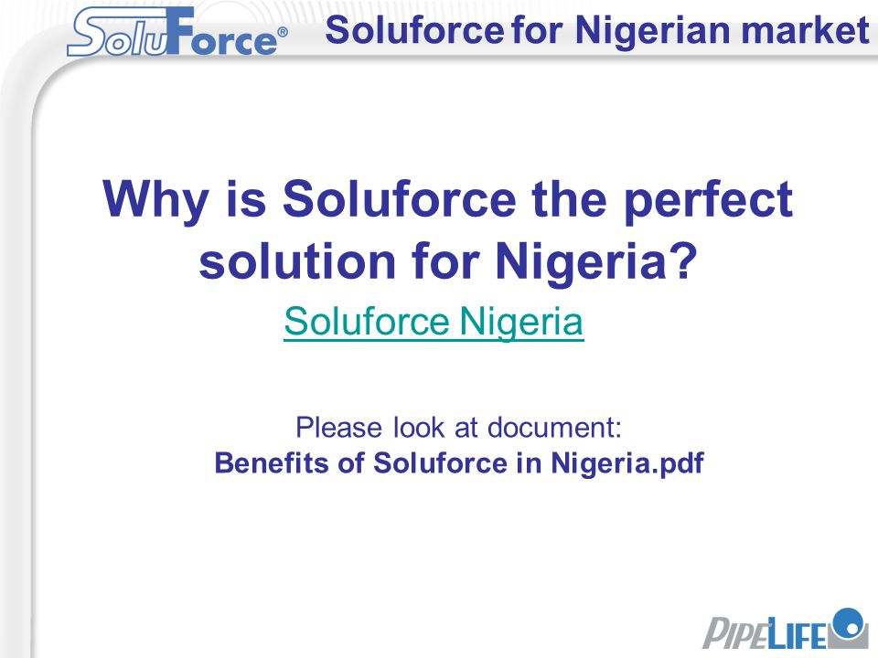 Why is Soluforce the perfect solution for Nigeria