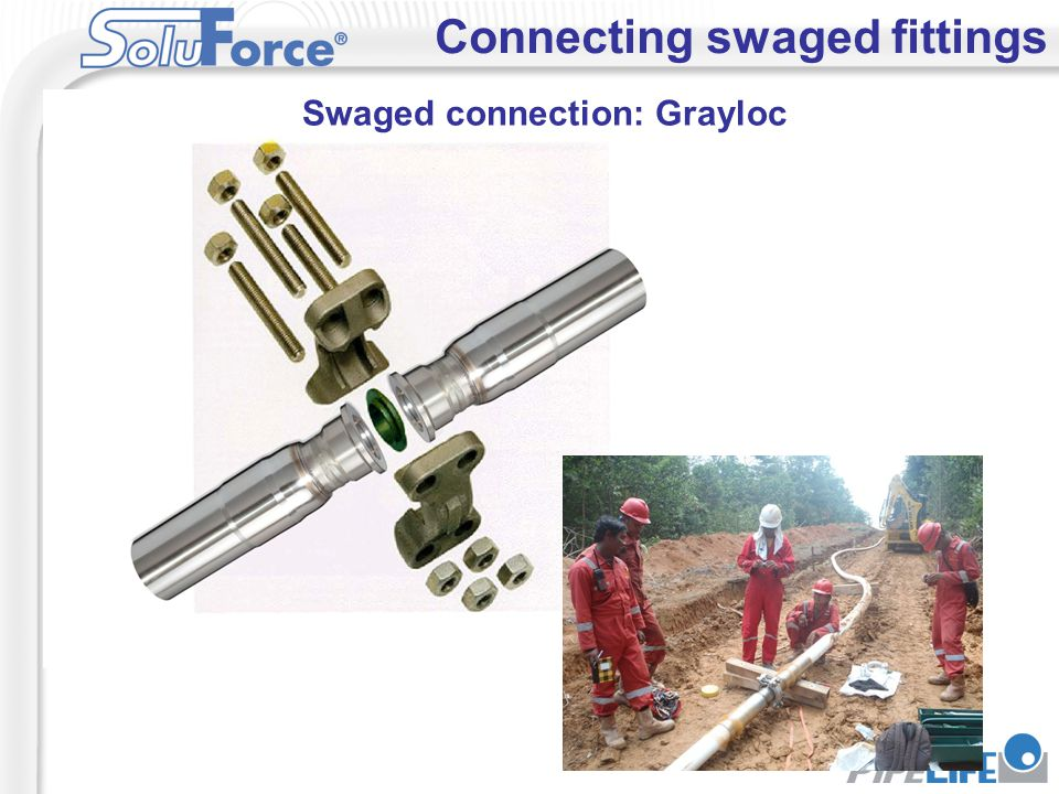 Swaged connection: Grayloc