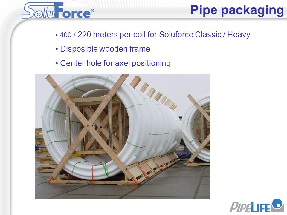 Pipe packaging Disposible wooden frame