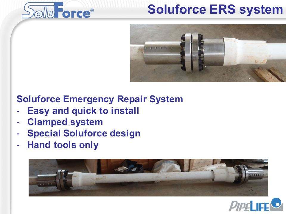 Soluforce ERS system Soluforce Emergency Repair System